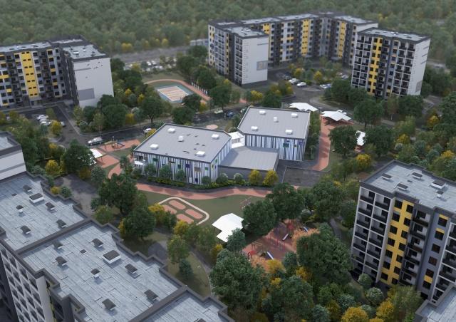 Эскизный проект жилого квартала